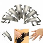 6PC Stainless Steel Metal Finger Pick Plectrums Thumb Picks For Guitar
