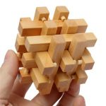 Intelligence Wooden 3D IQ Puzzle Brain Teaser Magic Cube Toy Gift
