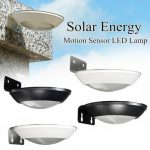 Solar Power 16 LED PIR Motion Sensor Wall Light Outdoor Garden Landscape Lamp
