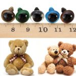 100pcs 14mm Baby Kids Handcraft Art Mix Color Plastic Safety Eyes DIY Teddy Bear Doll Plush Toys Puppet Crafts