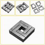 Metal Puzzle IQ Mind Brain Teaser Square Educational Kids Adults Toy Gift
