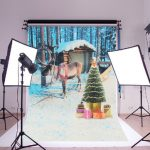 35×23 inch Christmas Snow Reindeer Kids Photography Backdrop Studio Photo Background Props