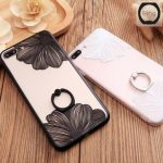 Fashion Lace Flower Pattern Case With 360 Degree Rotation Stand Holder For iPhone 7 Plus 5.5 Inch