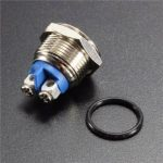 3A 250VAC 16mm Start Horn Button Metal Waterproof Push Button Switch Nickel Brass Button