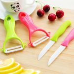 Ceramic Knife Fruit Knife Cooking Peeling Tools Set 8 Colors Handle Paring Kitchen Knives