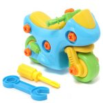 Motocycle Shape Kids Child Baby Boy Disassembly Assembly Play Games Toy Gift