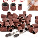 100pcs Sanding Bands Sleeves with 2pcs Mandrels for Electric Grinding Polishing