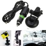 Suction Cup Windshield Mount Holder with Car Charger For GoPro Hero 3 3 Plus 4 Session XiaoMi Yi SJ4000 SJcam