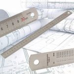 30cm 12inch Steel Stainless Pocket Pouch Metric Metal Ruler Measurement Double Side