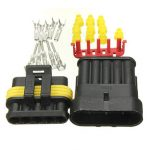5 Pins Way Sealed Waterproof Electrical Wire Auto Connector Plug Set
