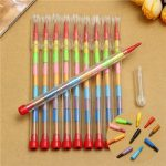 10pcs Colored Crayons Pencil Set 10 Colors Wax Nontoxic Kid Filler