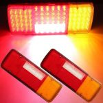 2x 12V 92 LED Caravan Van Trailer Truck Rear Tail Brake Indicator Reverse Lights
