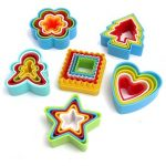 31Pcs 6Sets Geometric Shape Plastic Cookie Cutter Mold Biscuit Fondant Cutter Cake Decorating Tool