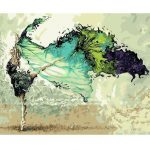 40X50CM Dancer Digital Acrylic Painting DIY Self Handcrafted Paint Kit Home Decor Without Frame