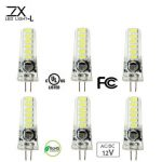 ZX Mini G4 LED COB AC/DC 12V Pure White Warm White Chandelier Light Replace Halogen G4 Lamps Bulb