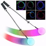 1PCS Pro LED Multi-Coloured Glow POI Thrown Balls Light up For Belly Dance Hand Props