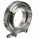 3 Inch Exhaust V-Band Clamps with Flange Downpipe Intercooler Stainless Universal