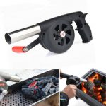 Outdoor Camping BBQ Air Blower Picnic Barbecue Cooking Fire Fan Hand Crank
