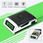 C905W 4 Slots LCD Display Intelligent NiCd/Ni-Mh Battery Charger For AA/AAA