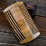 Two Sides Handmade Sandalwood Anti-Static Pocket Comb Beard Mustache Goatee Combs Hair Massage Brush
