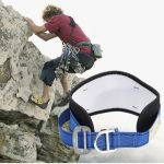 Safety Rock Climbing Waist Belt Strap Fall Protection Harness Equipment With 2 D-Ring Gear