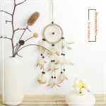 Original Hand-woven Natural Feathers Dreamcatcher American Pastoral Gifts Hanging Decor Ornament