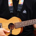 Adjustable Nylon Ukulele Strap Black Leather Ends For Ukulele