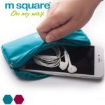 M Square Mini Wallet Phone Bag Travel Accessories Cable Headphone Storage Bag Phone Pouch
