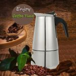 6 Cup 300ml Stainless Steel Moka Espresso Latte Percolator Stove Top Coffee Maker Pot