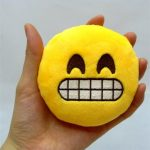 Honana WX-396 4 Inch Toy Novelty Emoji Small Pillow Smiley Face Soft Plush Toys Key Bag Phone Chain
