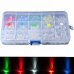 300Pcs 5mm LED Diodes Yellow Red Blue Green White Assortment Light DIY Kit