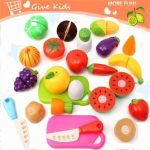 20PCS Kitchen Fruit Vegetables Food Toy Cutting Set Kids Pretend Role Play Gifts