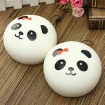 2PCS Kawaii Jumbo Panda Squishy Buns Cell Phone Bag Strap Pendant
