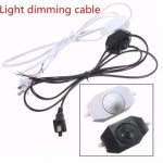 White/Black AWG Switch Dimming Cable Light Modulator Lamp Line Dimmer