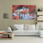 Triptych Frameless Canvas Prints Wall Art Picture Mangrove Forest Waterfall Home Decor