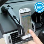2 in 1 Multifunctional Phone Stand Suction Cup Car Air Vent Holder Bracket for under 6 inches Smartphone