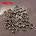 50Pcs Stainless Steel Dart Shaft Ring Round Rings Set Dart Accessories