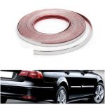 20mmX15m Chrome Universal Car Decor Trim Scratch Resistant Bar Molding Adhesive Strip