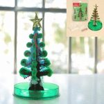 JA Magic Funny Growing Tree With Star Paper Tree Green Paper Art Kids Educational Toy Gift Decor