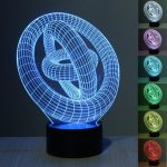 3D Illusion Cable 7 Color Change Night Light Touch Switch LED Desk Table Lamp