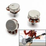 3pcs 500K Tone/Volume Potentiometer Solid Shaft Pot For Double-coil Electric Guitar Bass