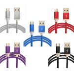 1.5M/5FT Braided Micro USB Charger Data Sync Cable Cord Dust-proof For Smartphone