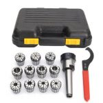 11pcs 1/8-3/4 Inch Collects Set With MT3 Shank Chuck And Spanner For Milling Machine
