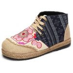 Women Cotton Shoes Lace Up High Top Casual Outdoor Short Boots