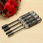 4pcs Metal 4.0/5.5/7.0/8.0mm Hex Screwdriver Tools NUT Key Socket Screw Driver Wrench Set