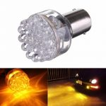 1x 1156 24 LED Yellow Amber Turn Signal Light Lamp Bulb PY21W 581 12V
