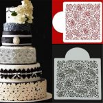 Flower Fondant Side Cake Mold Border Stencil Decorating Sugarcraft Baking Tools