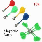 10 X Magnetic Dart Darts for Two-Sided Magnetic Dart Board