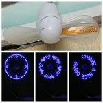USB LED Message Fan Laptop Desk PC Gadget Car Flexible Goose-neck Random Pattern