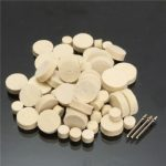 60pcs Felt Polishing Wheel Buffer Pad with 3 Mandrel for Dremel Rotary Tools